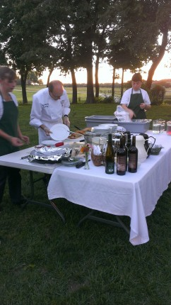 Chef Gary plating entree 6